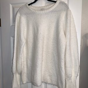 A New Day White Balloon Sleeve Sweater